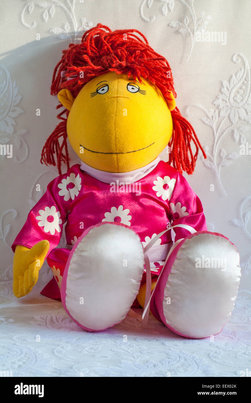 Tweenies Fizz character soft cuddly toy - Stock Image
