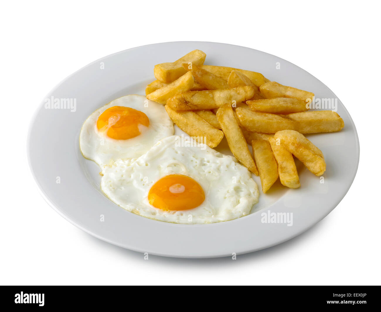 Stock Photo Double Egg And Chips 78017934 on My Lunch Plate