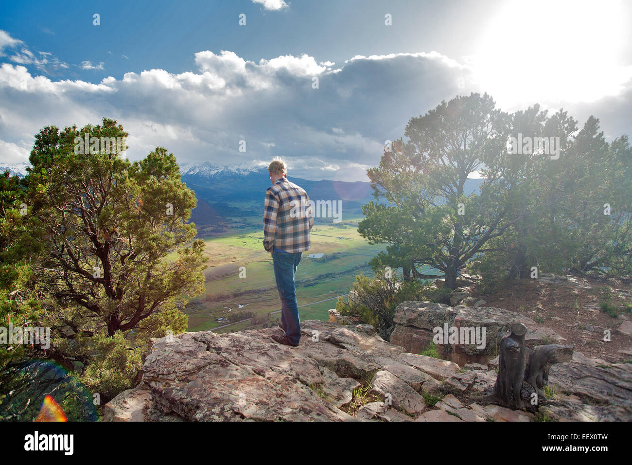 Jonathan Brittain in Ridgway, Colorado - Stock Image