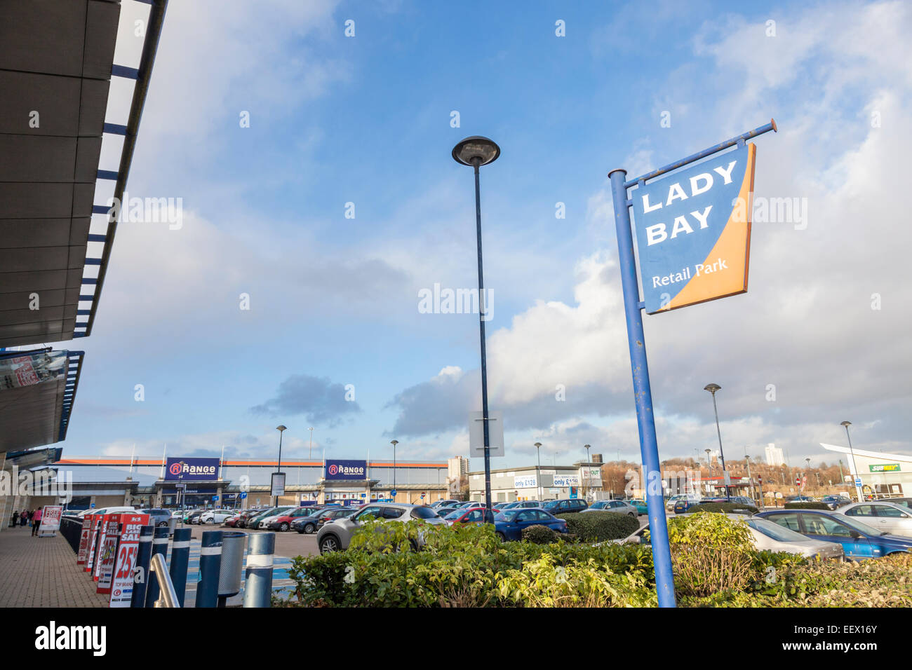 Lady Bay Retail Park, Nottingham, England, UK - Stock Image