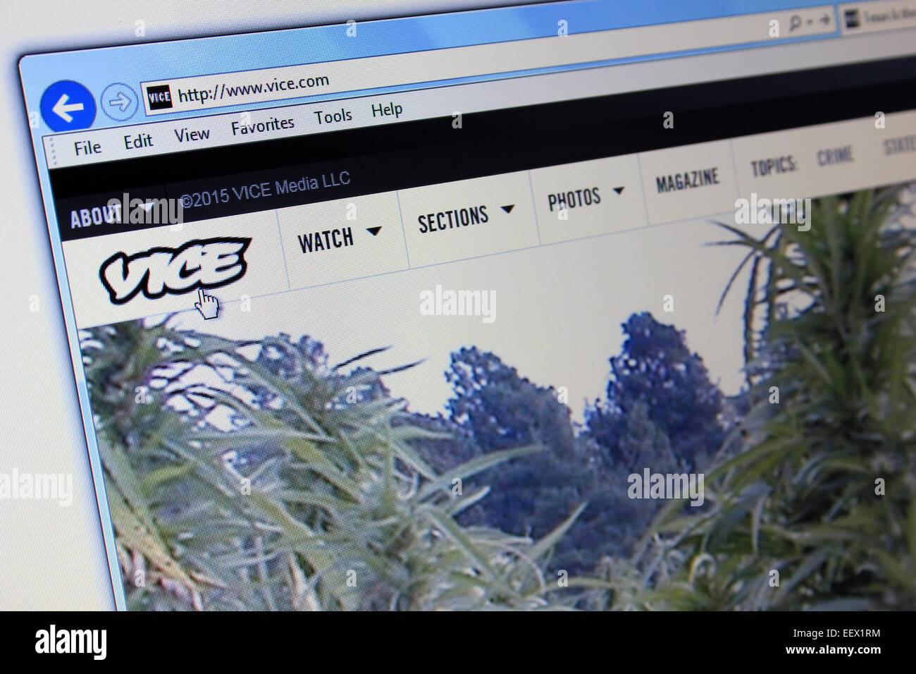vice.com website - Stock Image