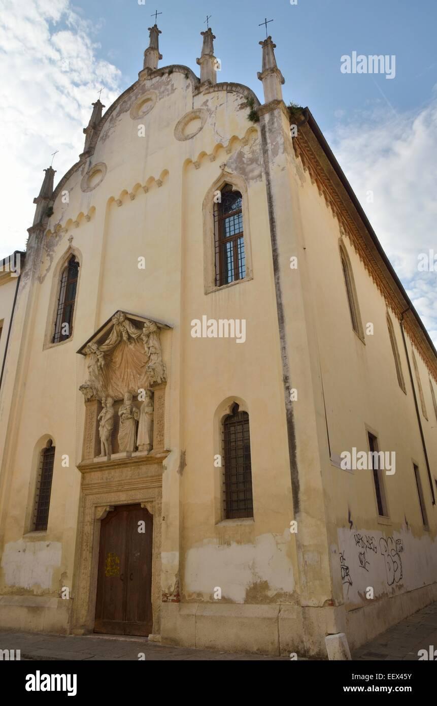 Church of Saint Lorenzo in Vicenza, Italy. - Stock Image