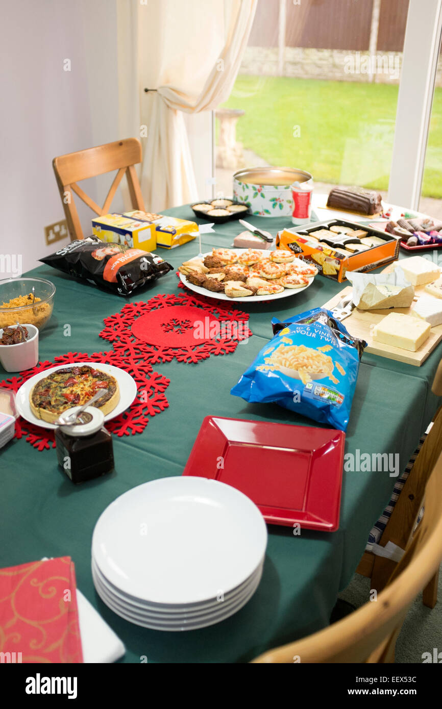 Christmas Buffet Table Lunch Gluten Free Coeliac - Stock Image