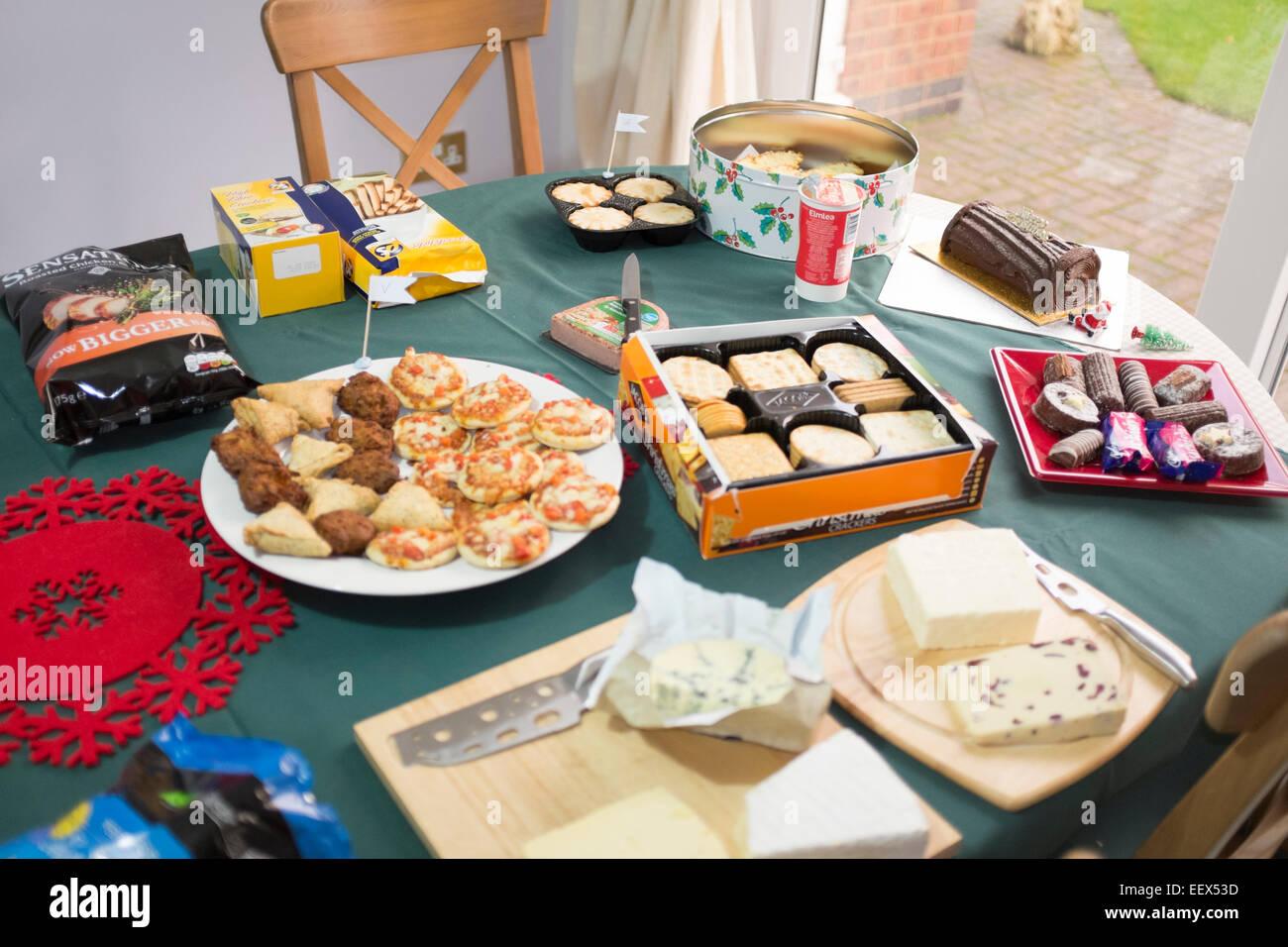 Christmas Buffet Table Lunch Gluten Free Coeliac Stock Photo
