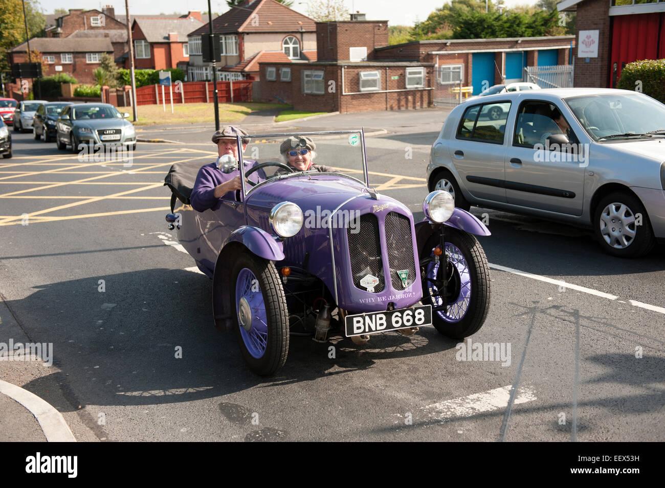 Old Vintage 3 Wheeler Car Purple Morgan Stock Photo 78021429 Alamy