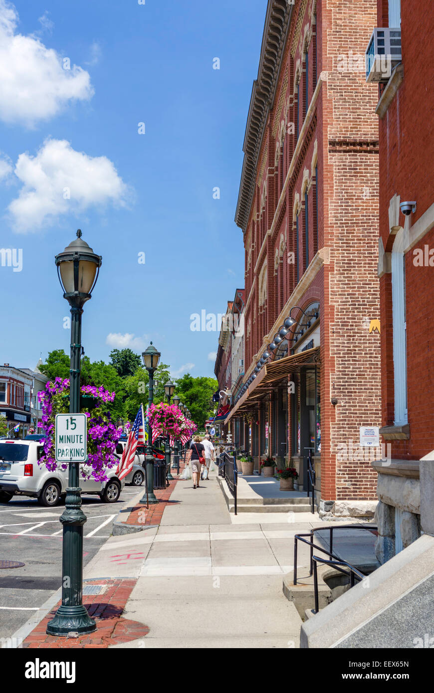 Main Street in Lee, Berkshire County, Massachusetts, USA - Stock Image