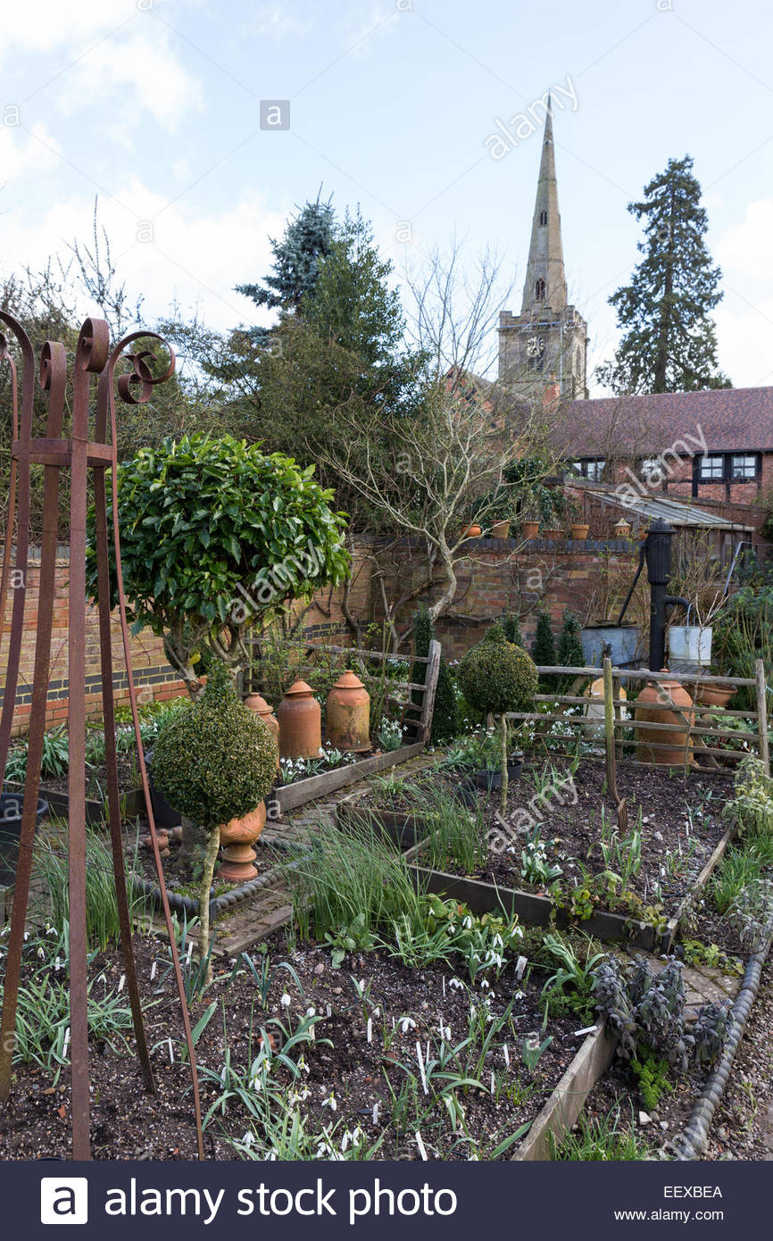 Dial Park, Worcestershire, spring bulb garden - Stock Image