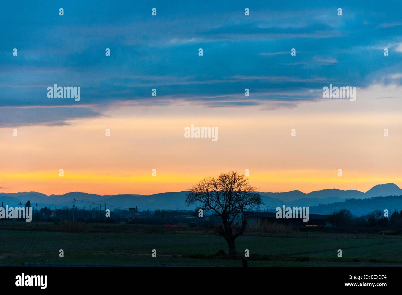 Tramonto marchigiano - Stock Image