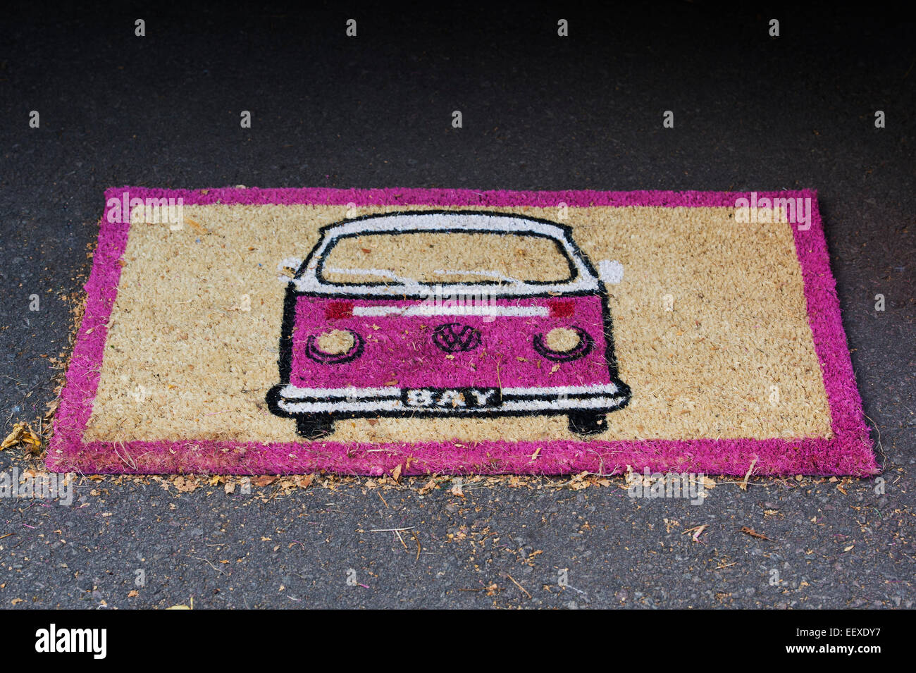 VW campervan doormat - Stock Image