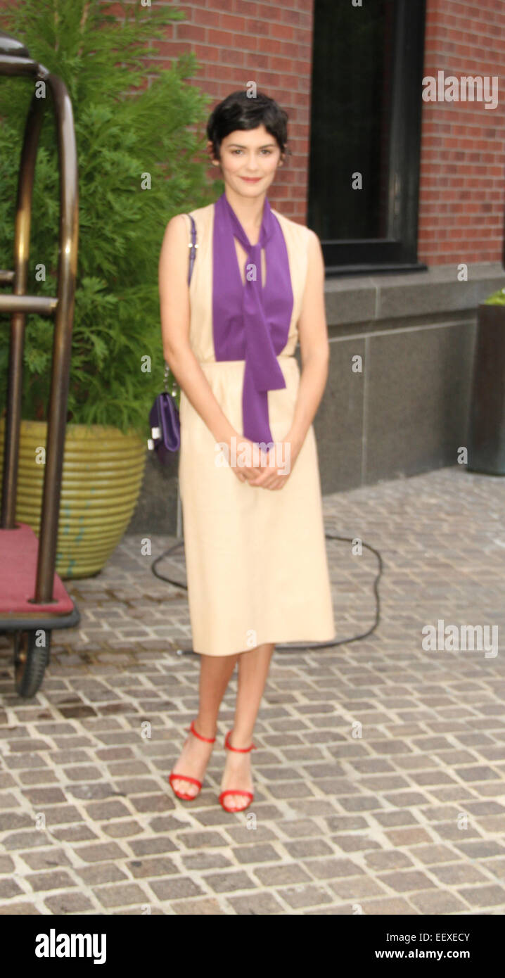 'Mood Indigo' New York premiere at Tribeca Grand Hotel in New York City  Featuring: Audrey Tautou Where: - Stock Image