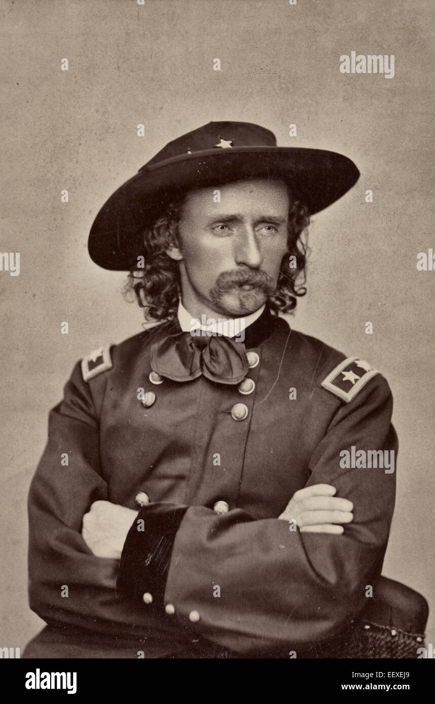 Major General George Armstrong Custer of 2nd Regular Army Cavalry Regiment, 5th Regular Army Cavalry Regiment, Aide - Stock Image