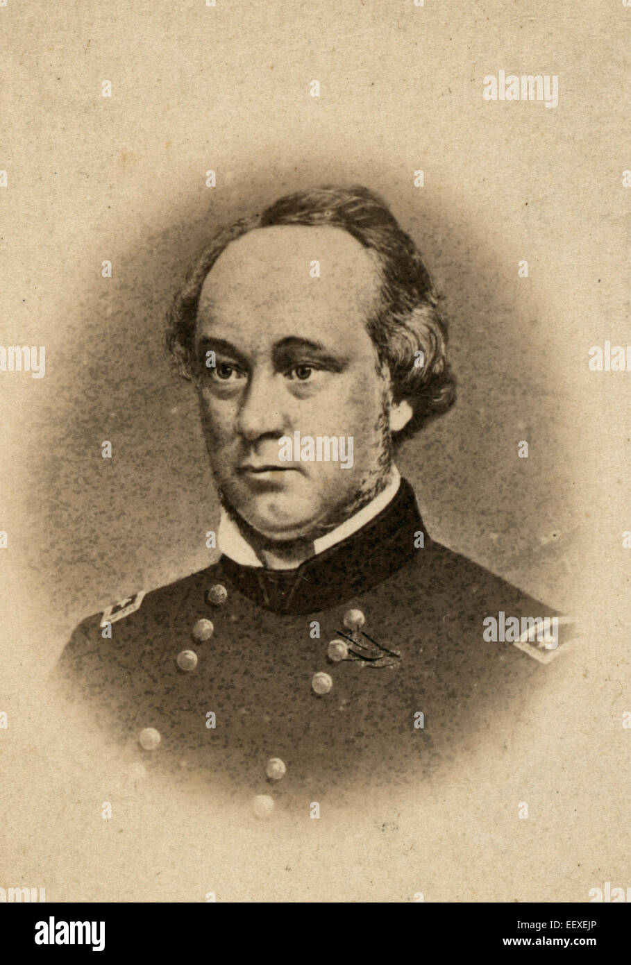 General Henry Wager Halleck, United States Army,  circa 1861 - Stock Image