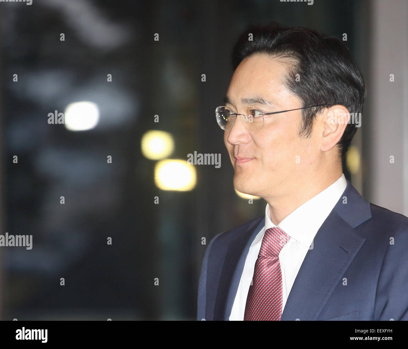 Lee Jay-yong, Jan 19, 2015 : Samsung heir Lee Jay-yong arrives at Hotel Shilla to attend an annual meeting with Stock Photo