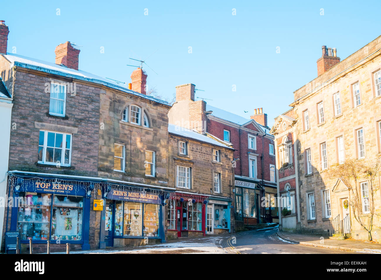 Wirksworth, a market town mentioned in the Doomsday book, Derbyshire Dales,England - Stock Image