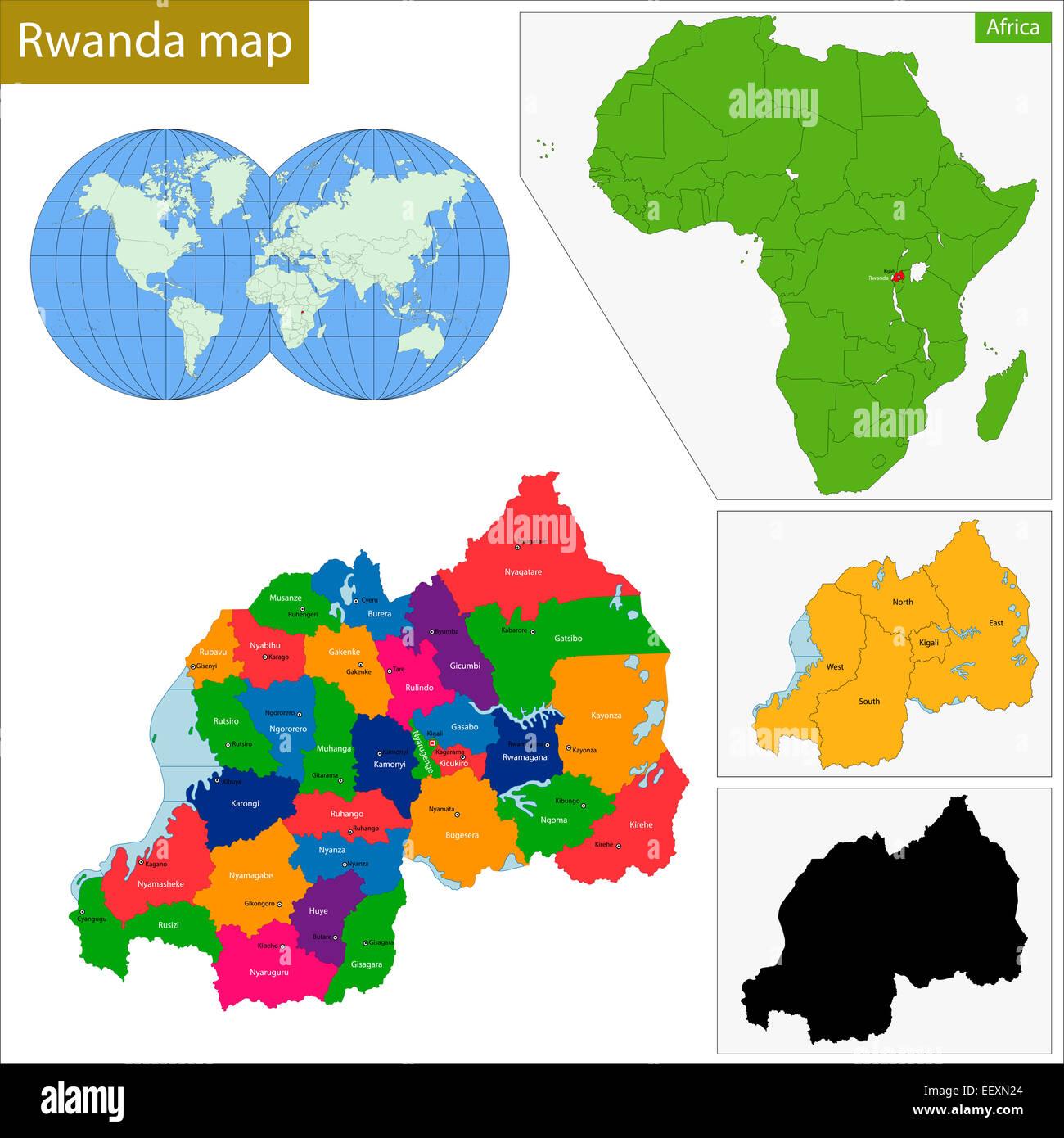 Rwanda Map Stock Photos & Rwanda Map Stock Images - Alamy