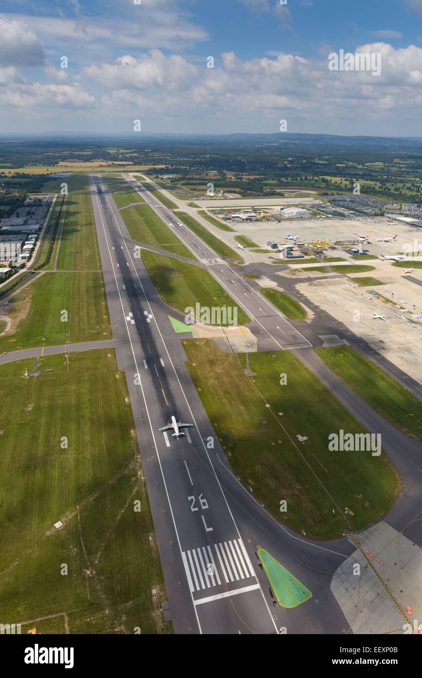 Aerial view of London Gatwick Airport  Where: Crawley When: 09 Jul 2014 Stock Photo