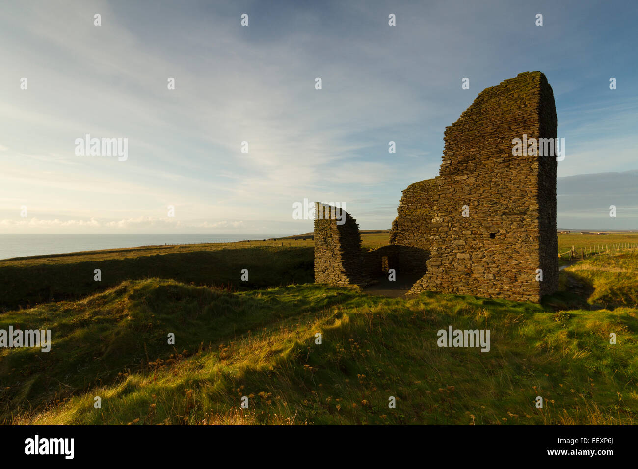 Castle of Old Wick, Caithness - Stock Image