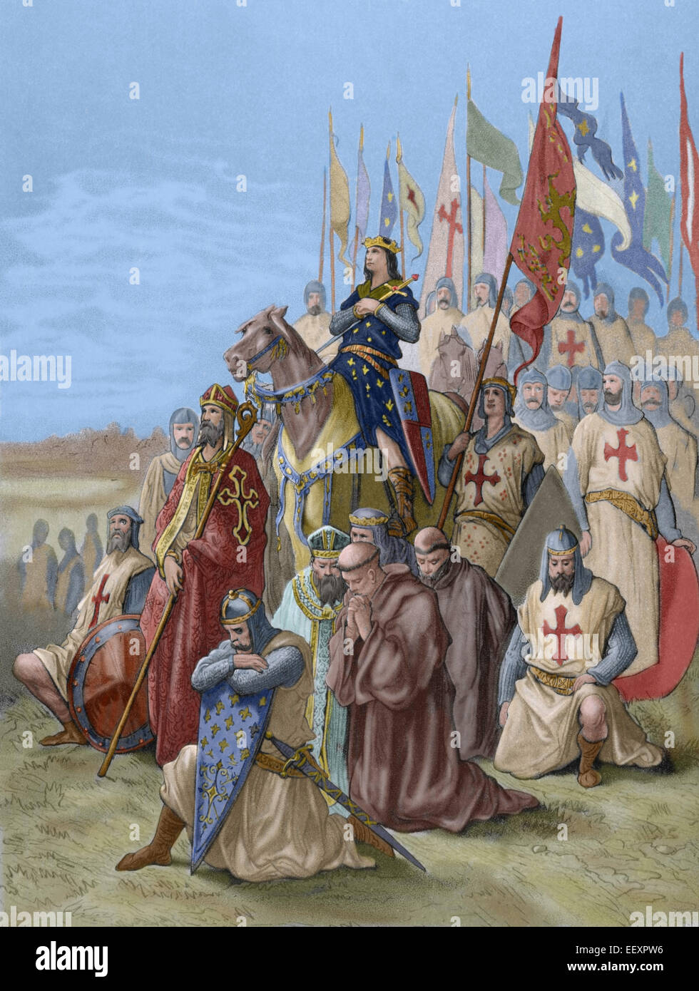 Seventh Crusade (1248-1254). Conquest of Damietta (June 7, 1249). Saint  Louis (1214-1270) conquest the city and returned him to the Muslims.