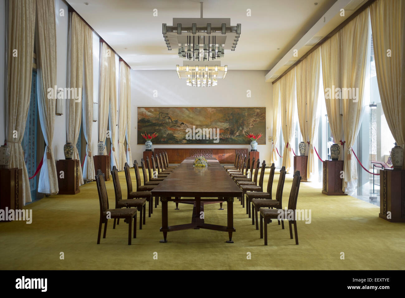 Dining Banqueting Room At The Reunification Palace Ho Chi Minh City Vietnam    Stock Image