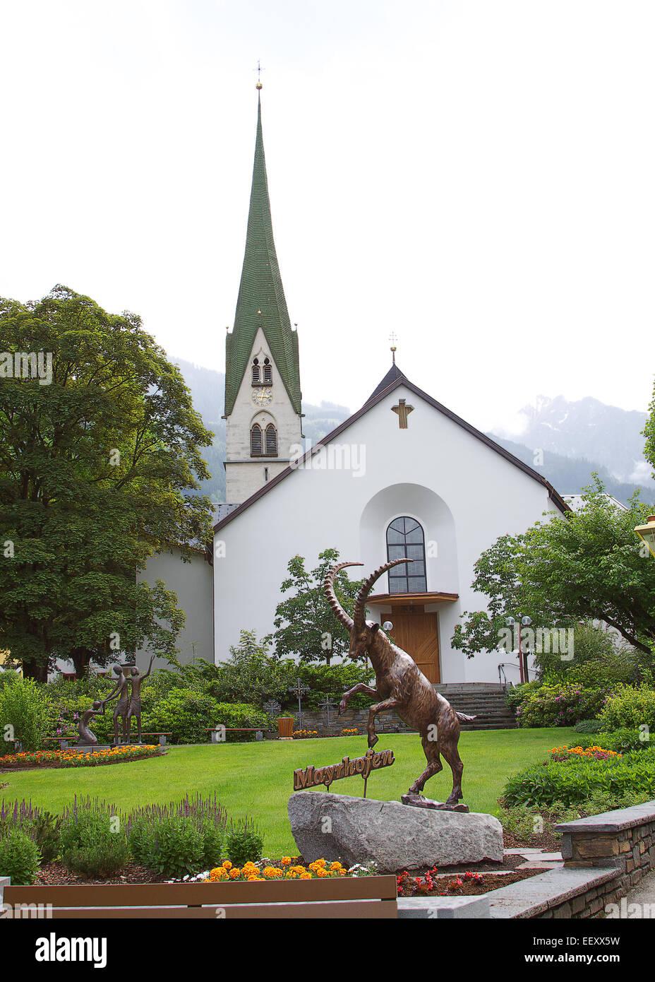 Mayrhofen, Austria - Stock Image