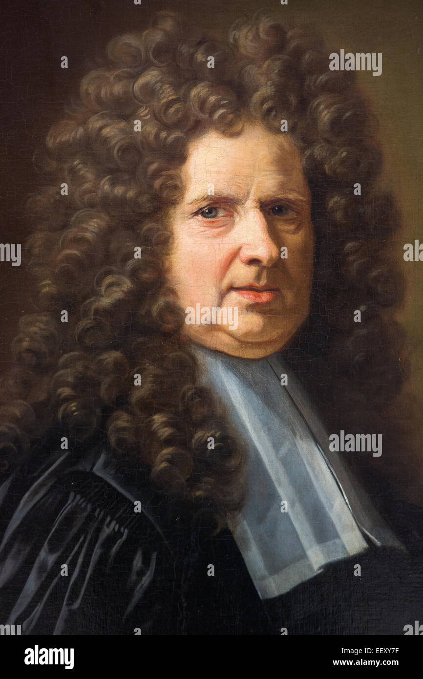 Painting of a magistrate, in the Museum of Rouen, France. This painting was created by Jean Jouvenet (1717). - Stock Image