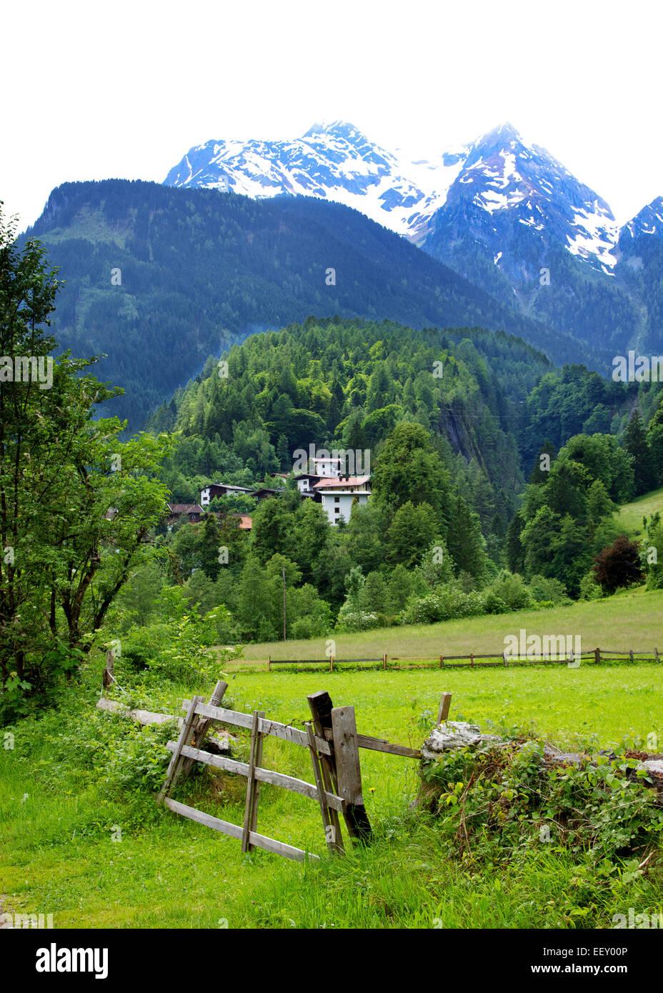Alpine vista - Stock Image