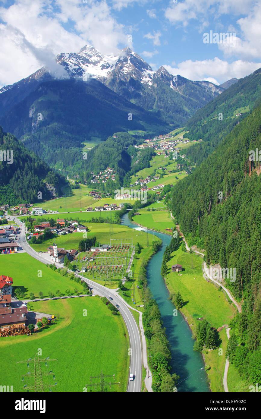 Alpine valley - Stock Image