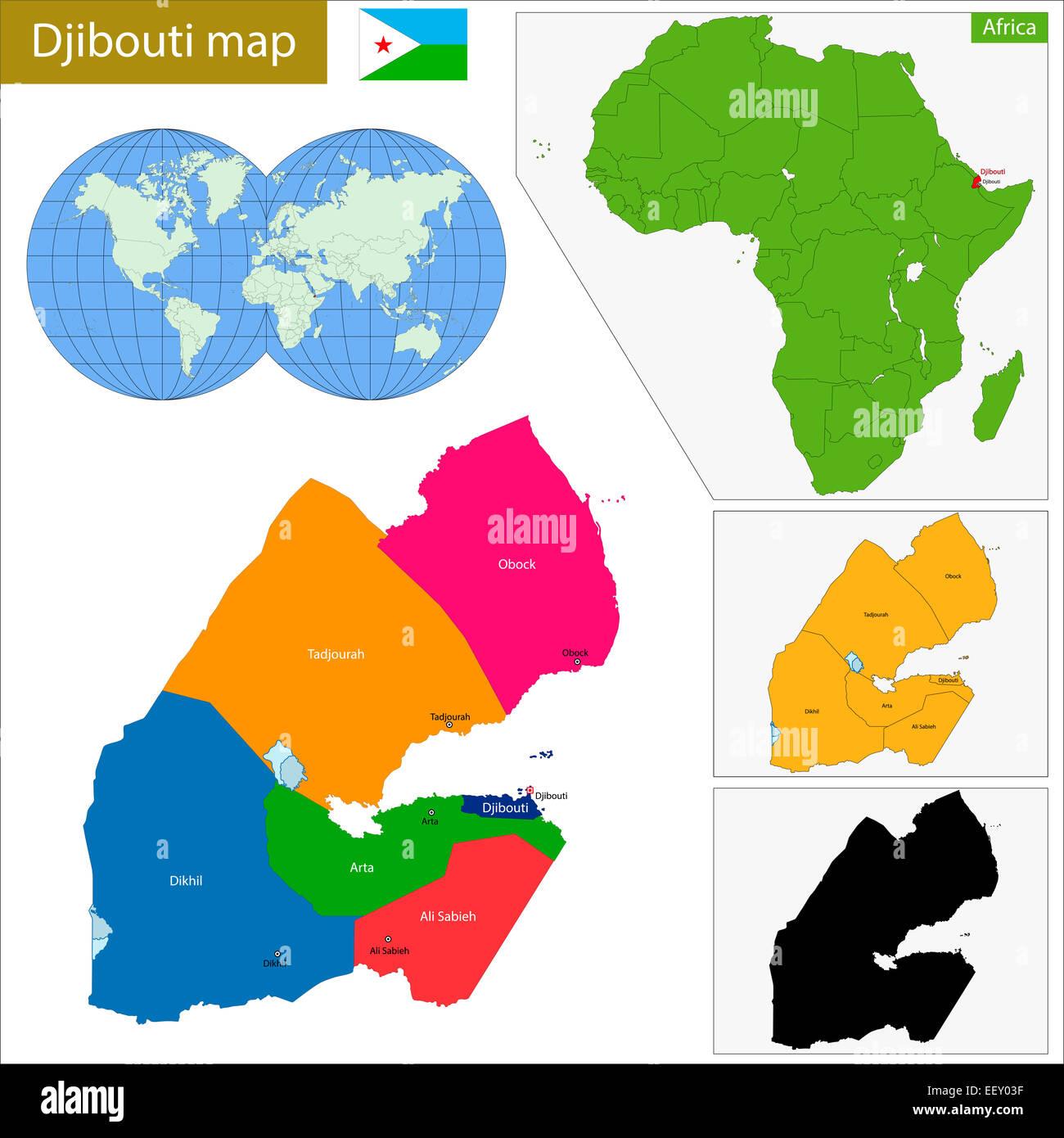 Djibouti map Stock Photo: 78039459 - Alamy