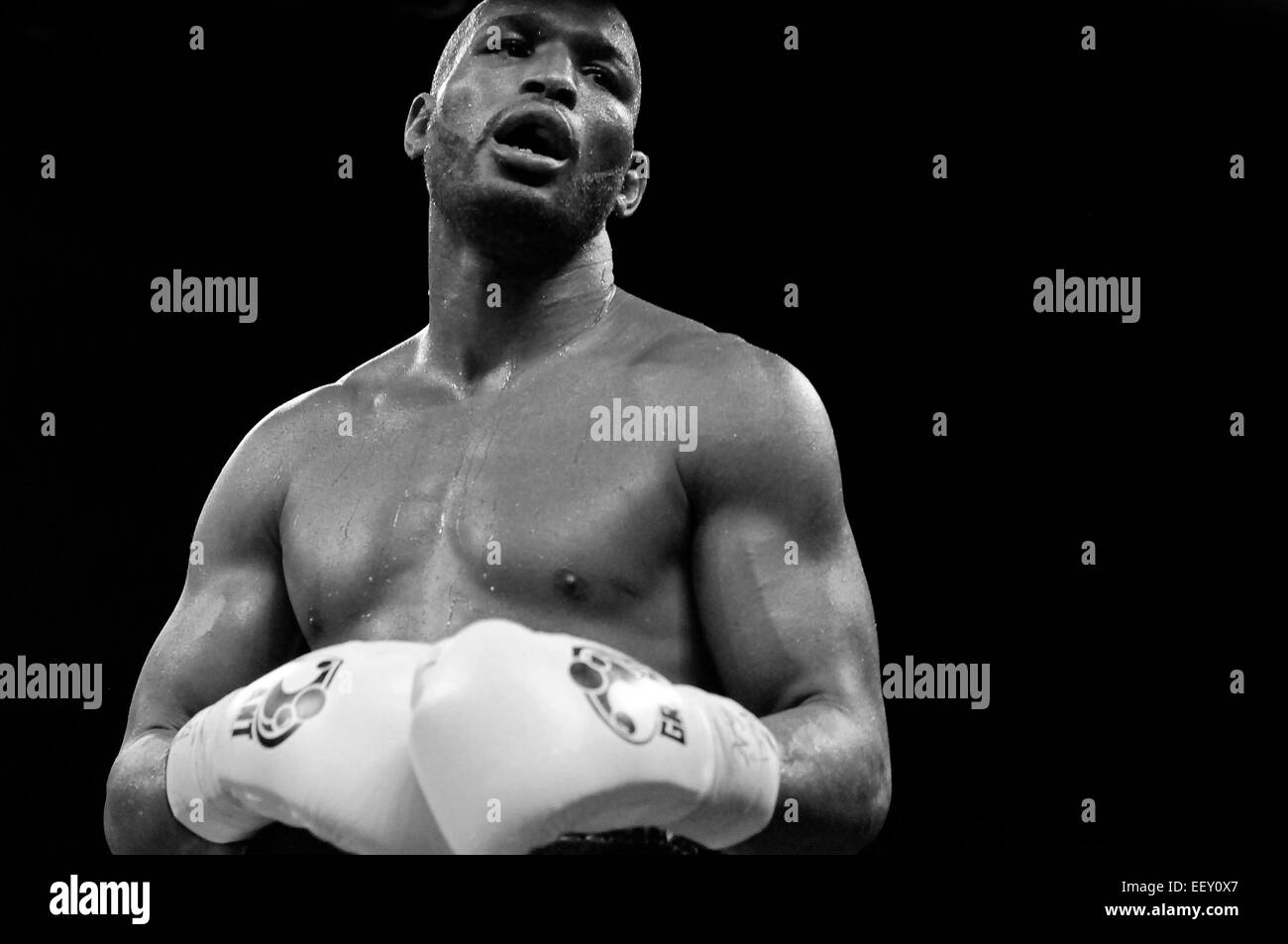 Former World Light Heavyweight and Middleweight Champion 'The Excutioner' Bernard Hopkins in Philadelphia - Stock Image