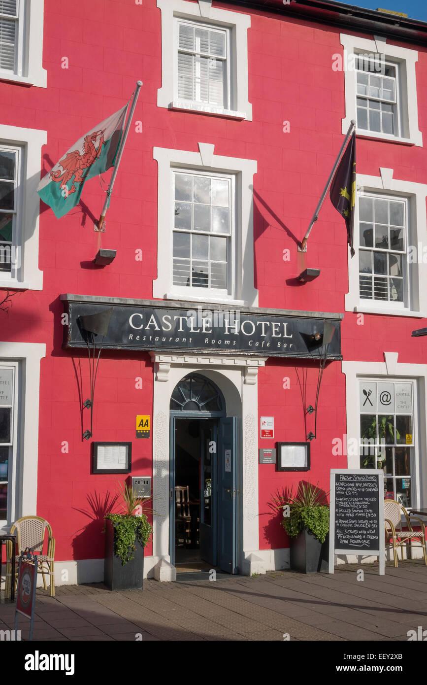 Castle Hotel Aberaeron Ceredigion Wales - Stock Image