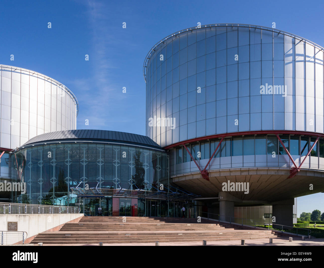 European Court of Human Rights Building, Strasbourg, France, Europe - Stock Image