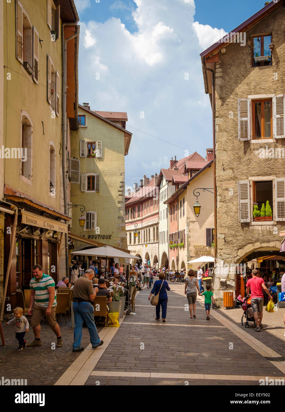 Old streets in Annecy, Haute-Savoie, France Stock Photo