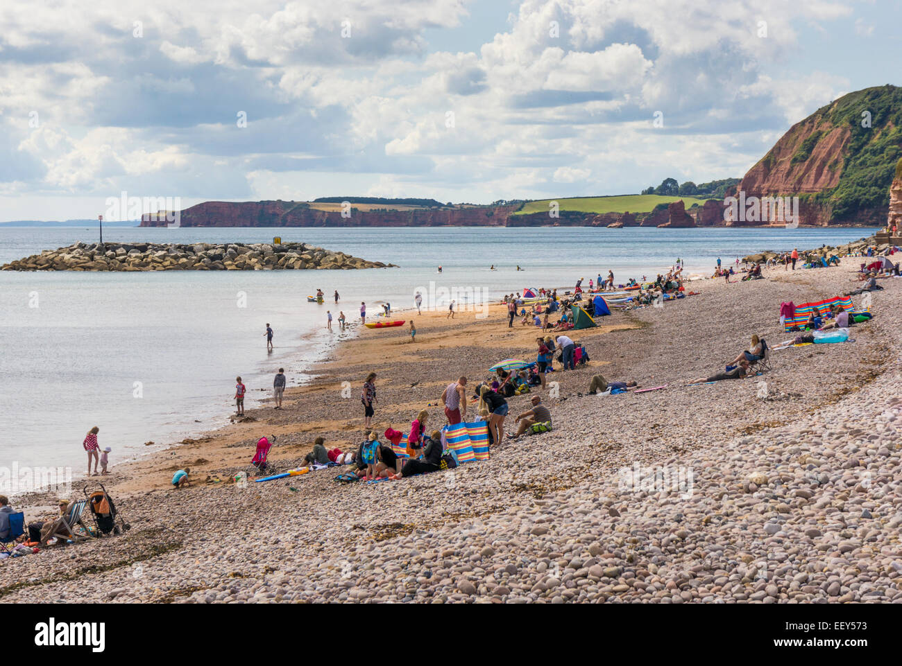 England Beaches With People