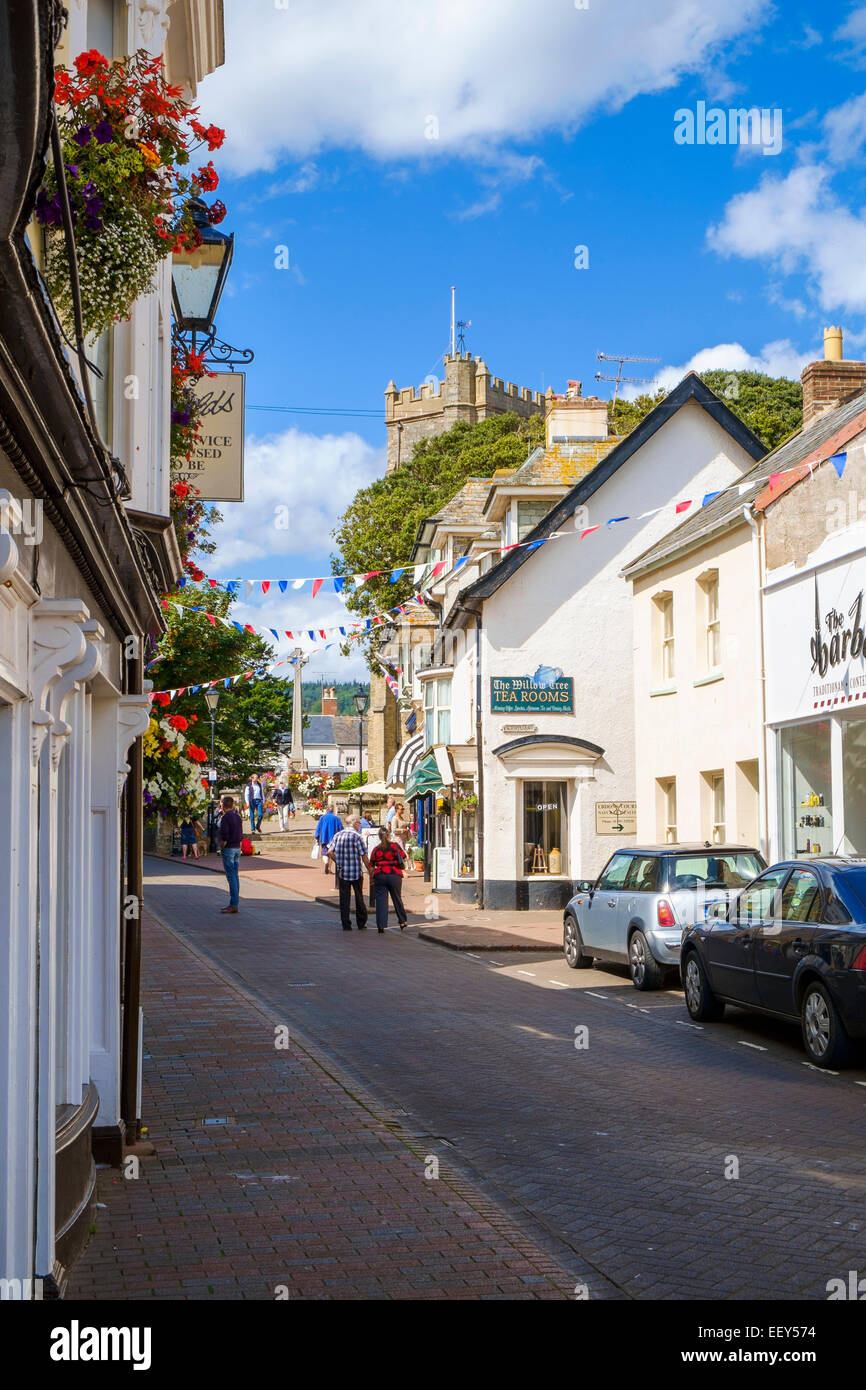 Street scene in Sidmouth, East Devon, England, UK - Stock Image