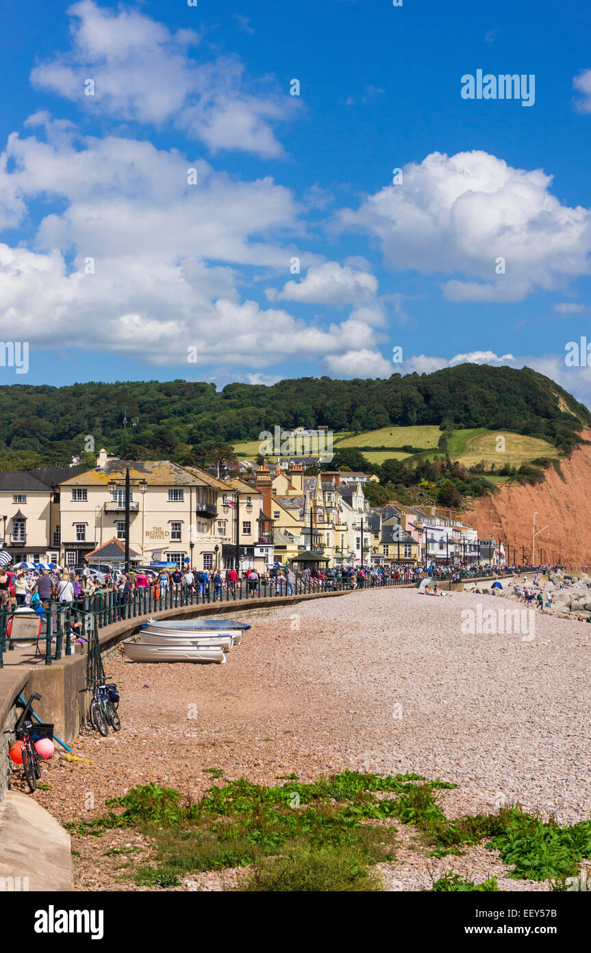 Sidmouth, East Devon, England, UK in summer - Stock Image