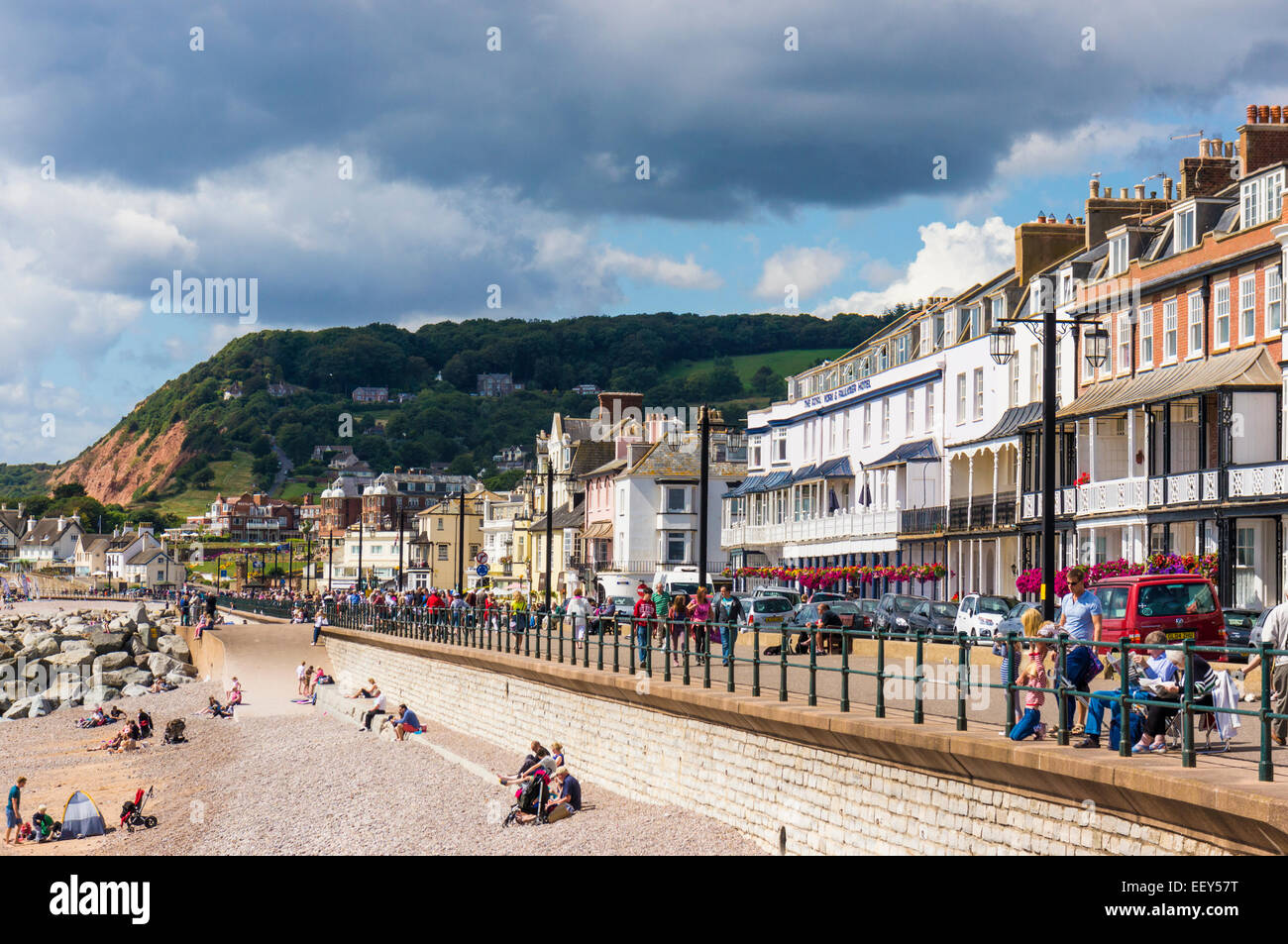 Seafront at Sidmouth, East Devon, England, UK Stock Photo