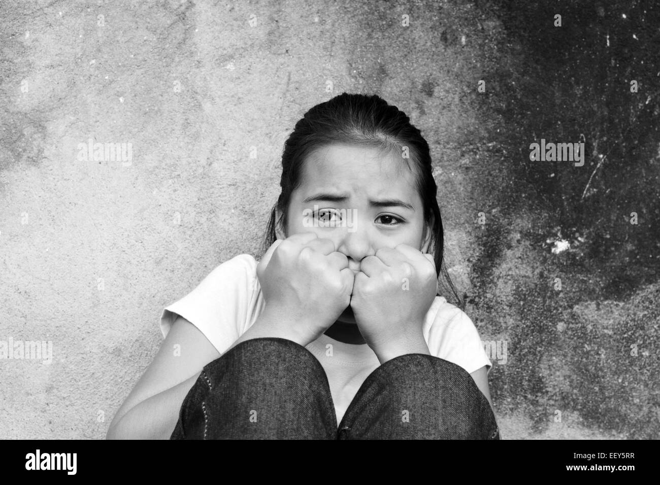 Crying Girl Black And White Stock Photos  Images - Alamy-9587