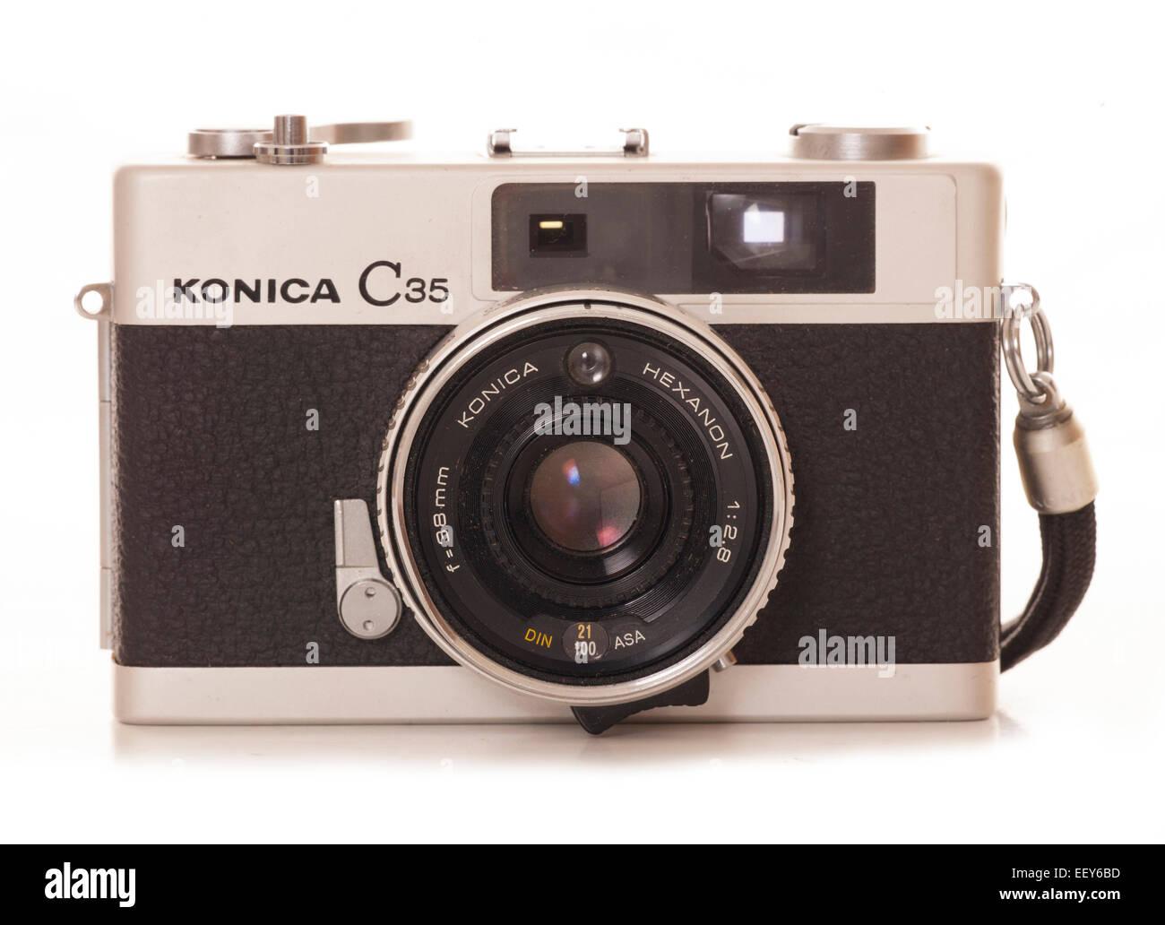 konica c35 camera film camera cutout Stock Photo