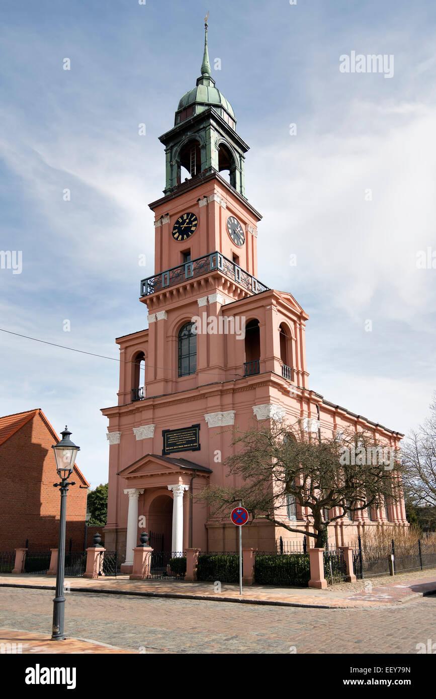 Church named Remonstrantenkirche in Friedrichstadt Northern Germany - Stock Image