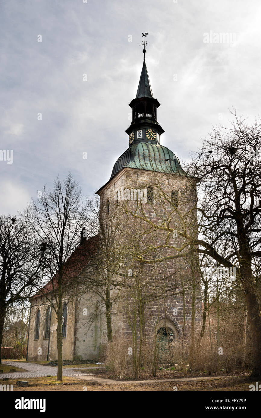 Image of St. Christophorus in Northern Germany on a cloudy day - Stock Image