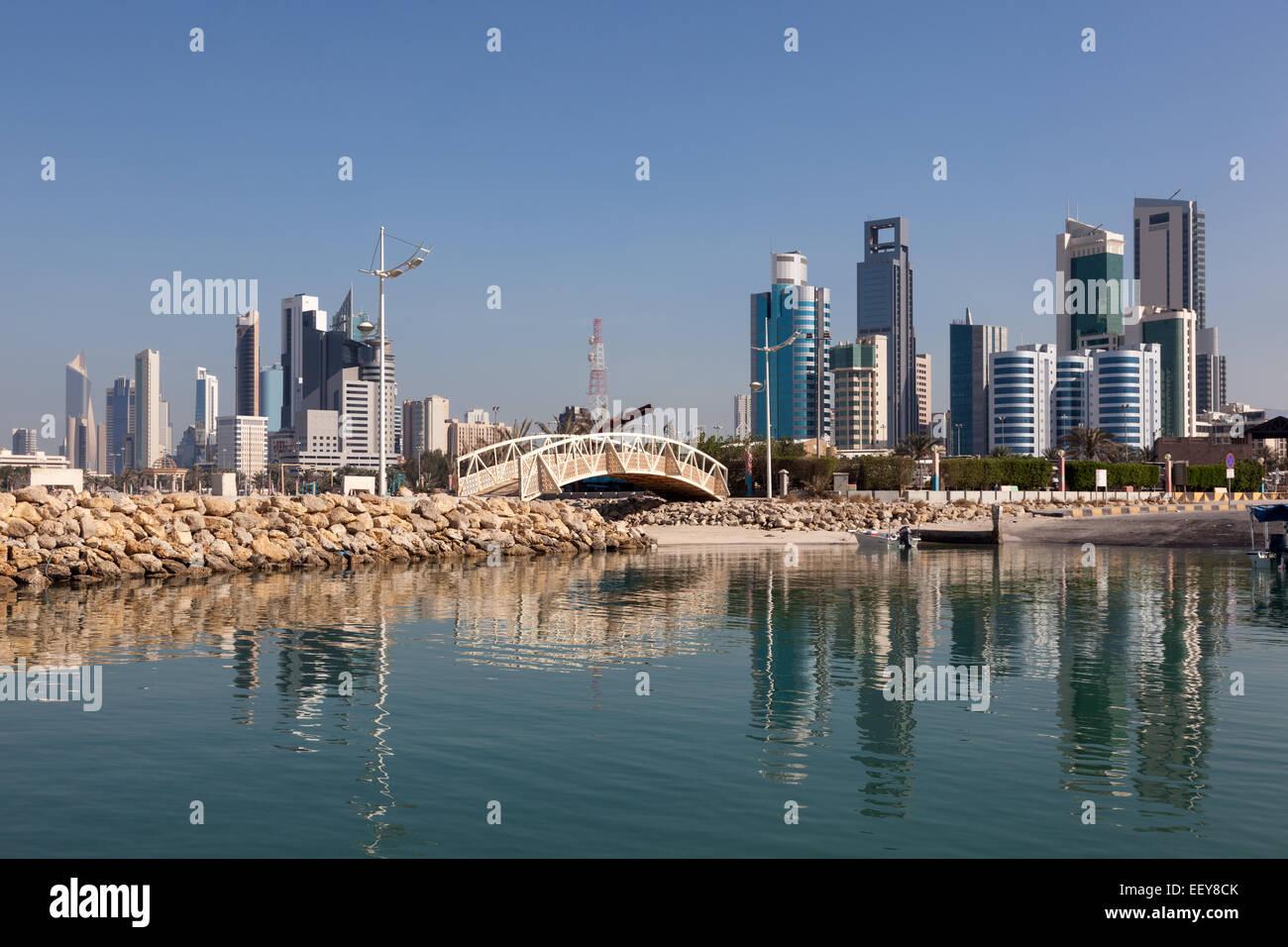 Skyline of Kuwait City, Middle East - Stock Image