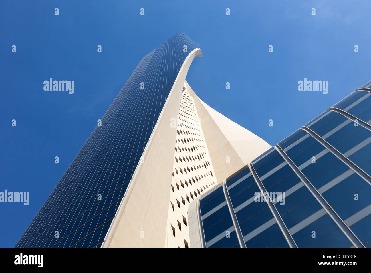 The Al Hamra Tower in Kuwait. The Tower is a  413 m skyscraper in Kuwait City. - Stock Image