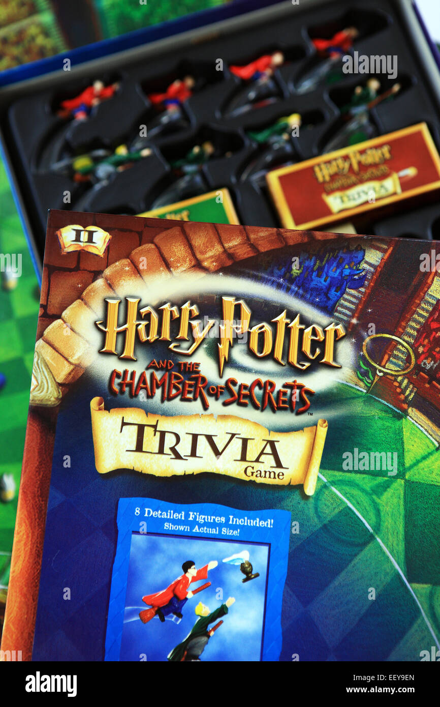 Harry Potter Chamber of Secrets Trivia Game Stock Photo