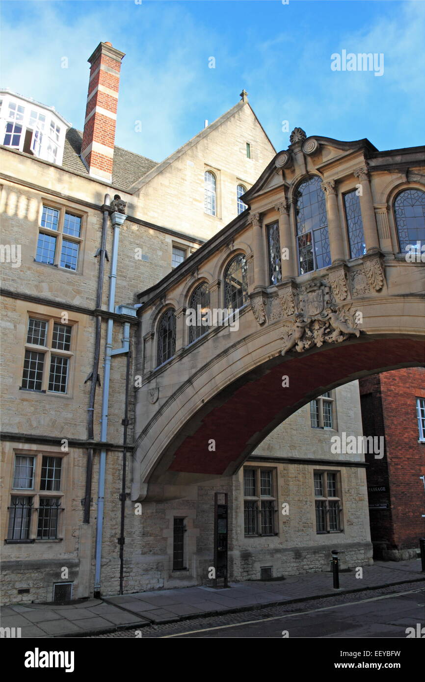 Bridge of Sighs, Hertford College, New College Lane, Oxford, Oxfordshire, England, Great Britain, United Kingdom, - Stock Image