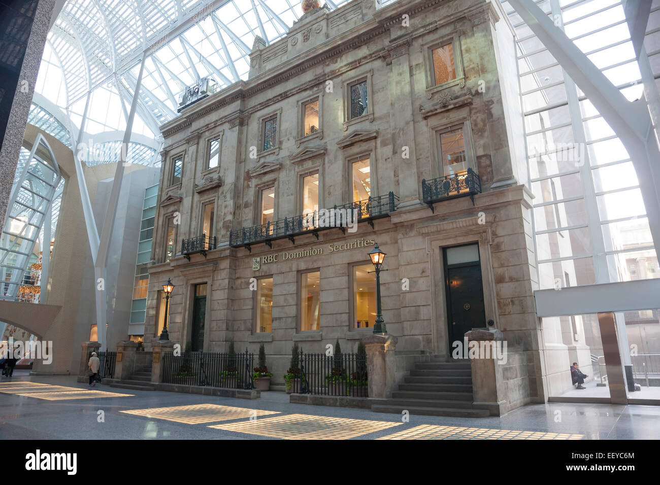 Brookfield Place; BCE Place; Bay & Front; Toronto; Ontario; Canada; commercial Building; downtown; historical - Stock Image