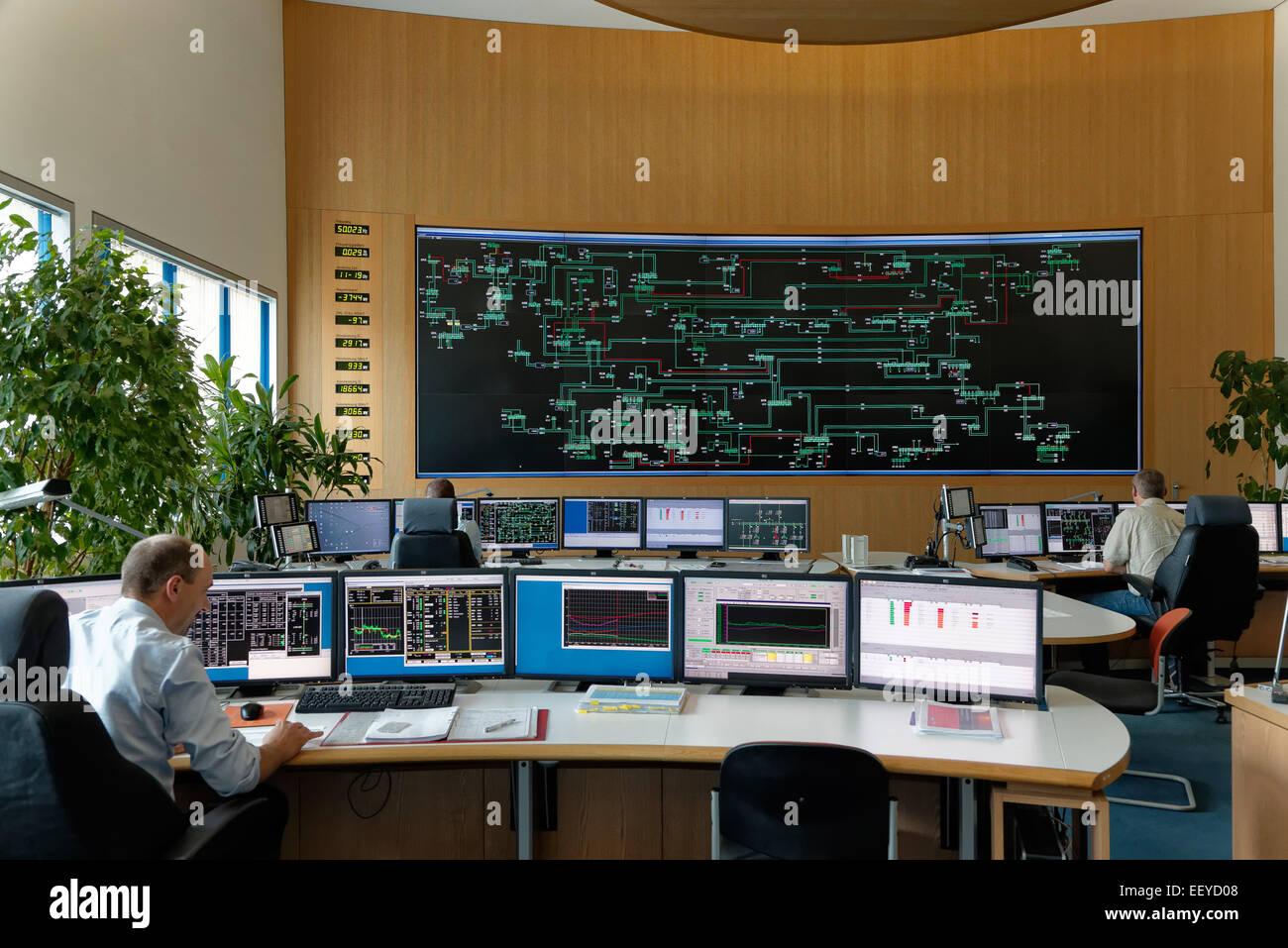 Neuenhagen, Germany, 50Hertz Transmission Control Center Stock Photo