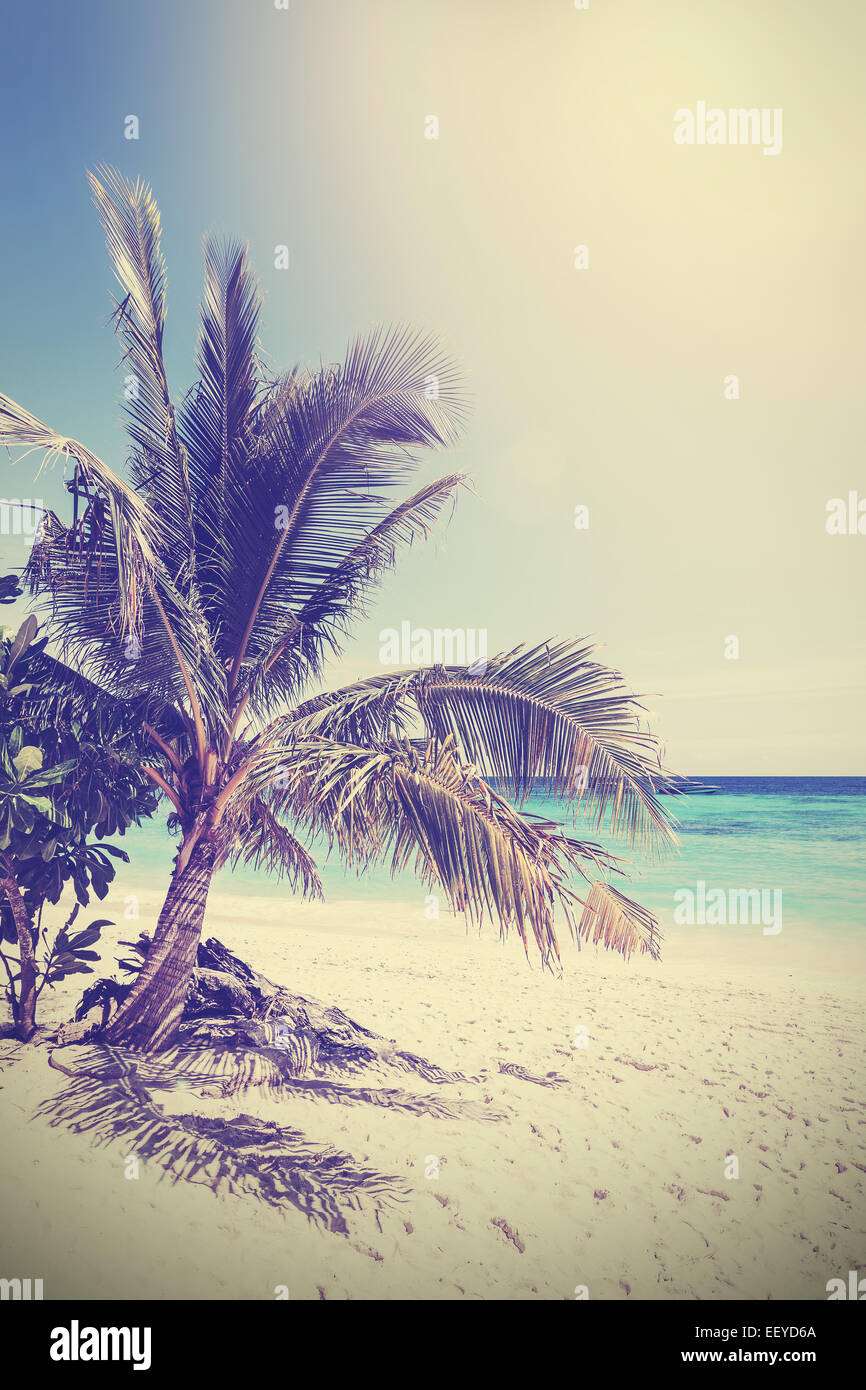 Vintage filtered picture of tropical beach. Koh Lipe in Thailand. - Stock Image