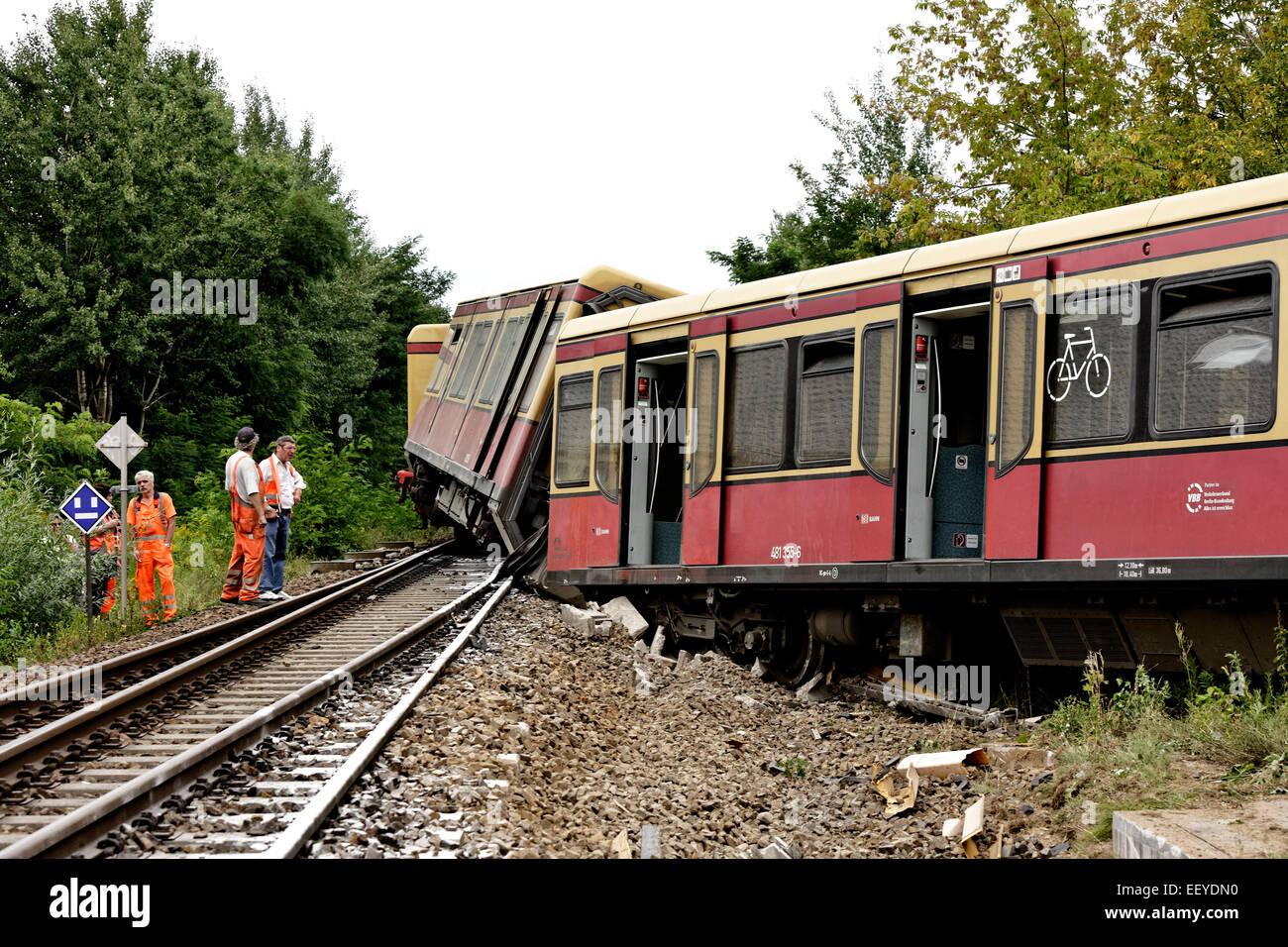 S-Bahn Berlin accident Stock Photo