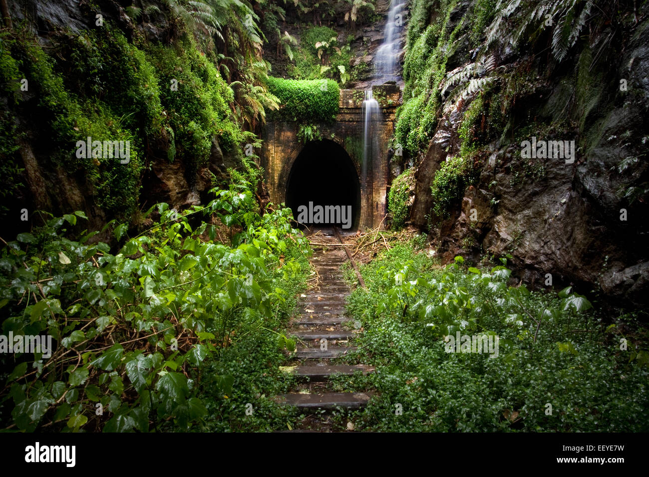 abandon train tunnel - Stock Image