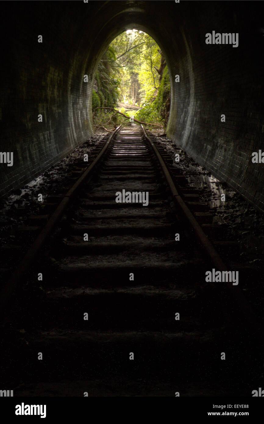 abandon train tunnel - Stock Image